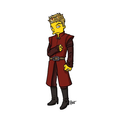 "Joffrey Baratheon from ""Game of Thrones"" / Simpsonized by ADN"