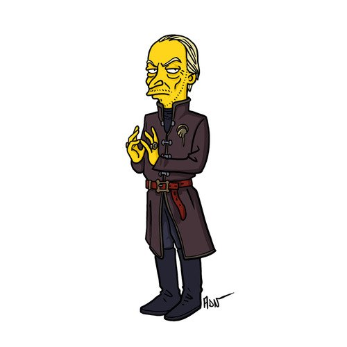 "Tywin Lannister from ""Game of Thrones"" / Simpsonized by ADN"