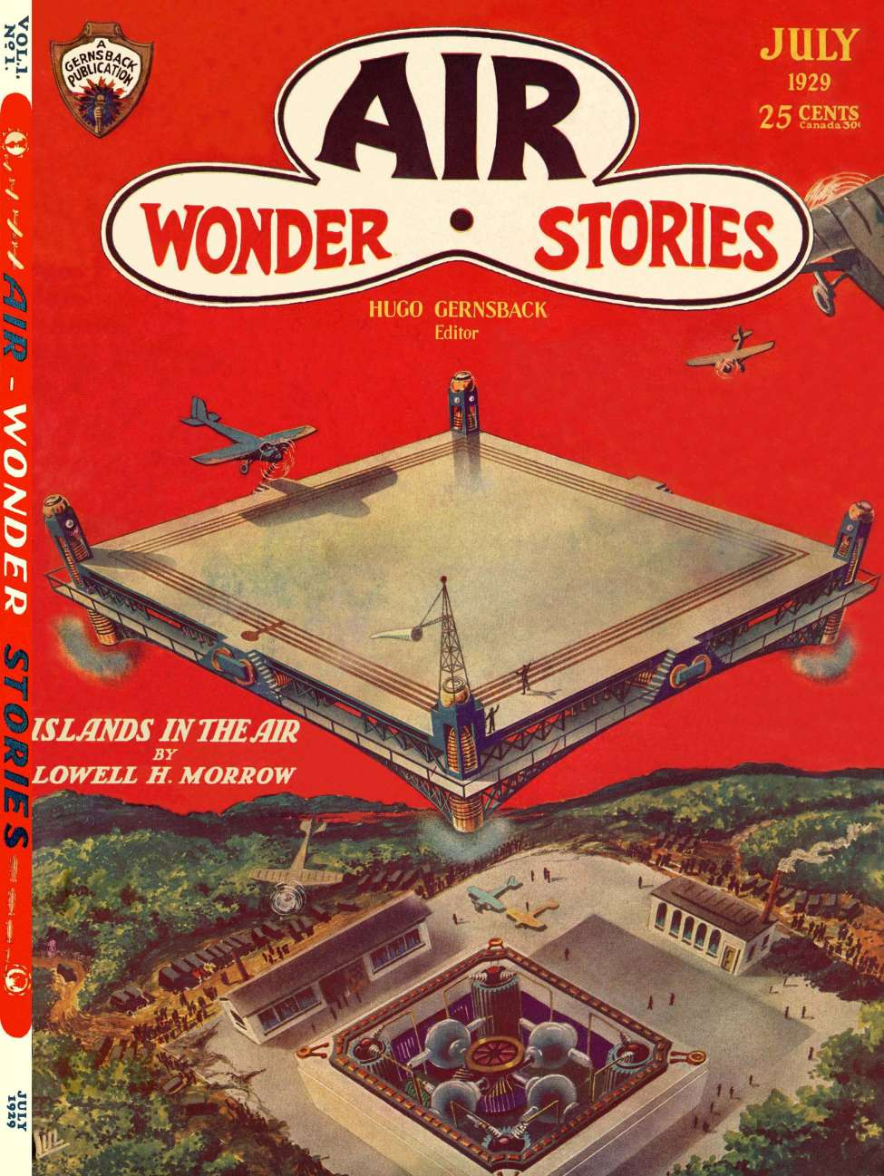 Comic Book Cover For Air Wonder Stories v1 01