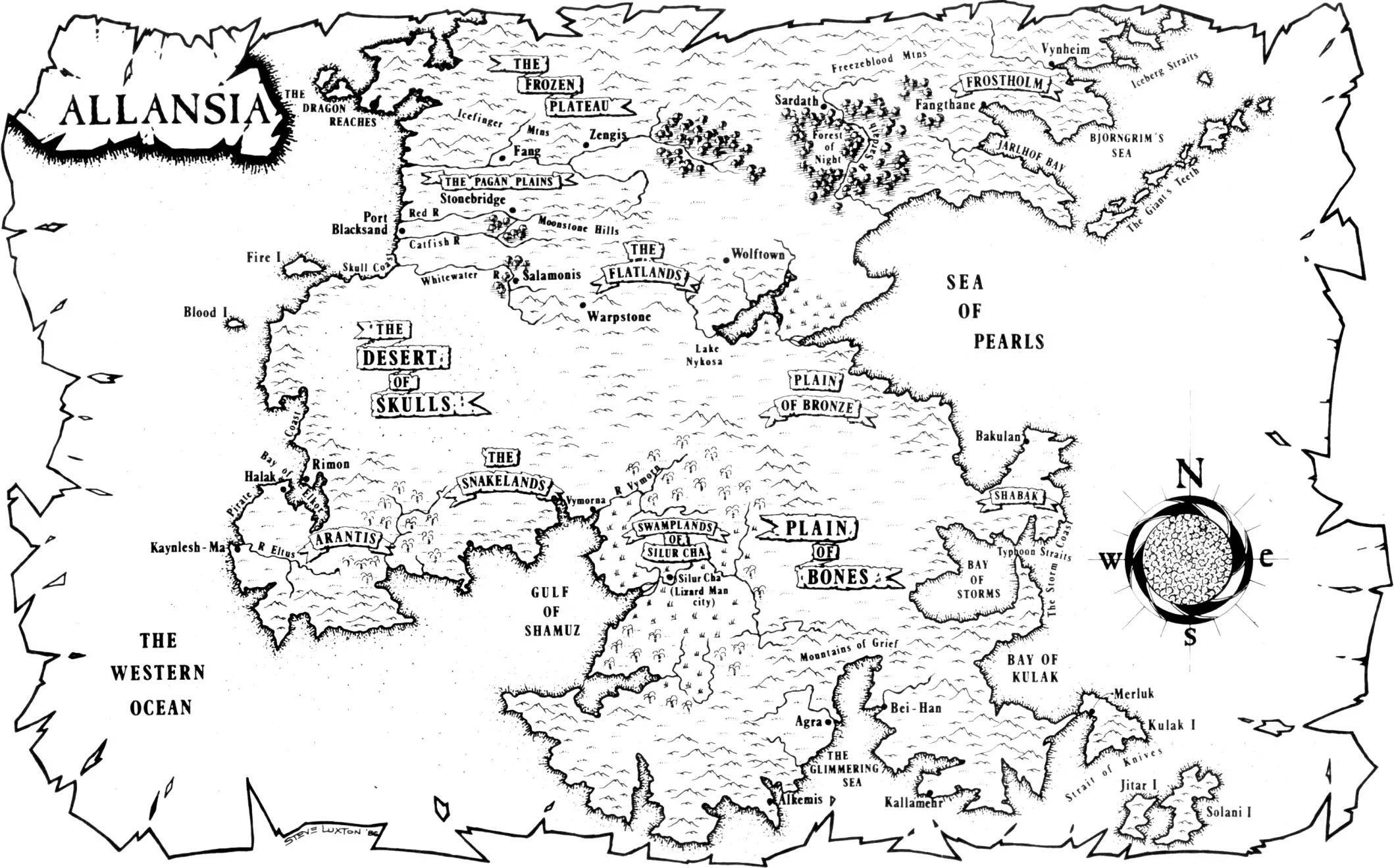 Ian Livingstone - Allansia_Map