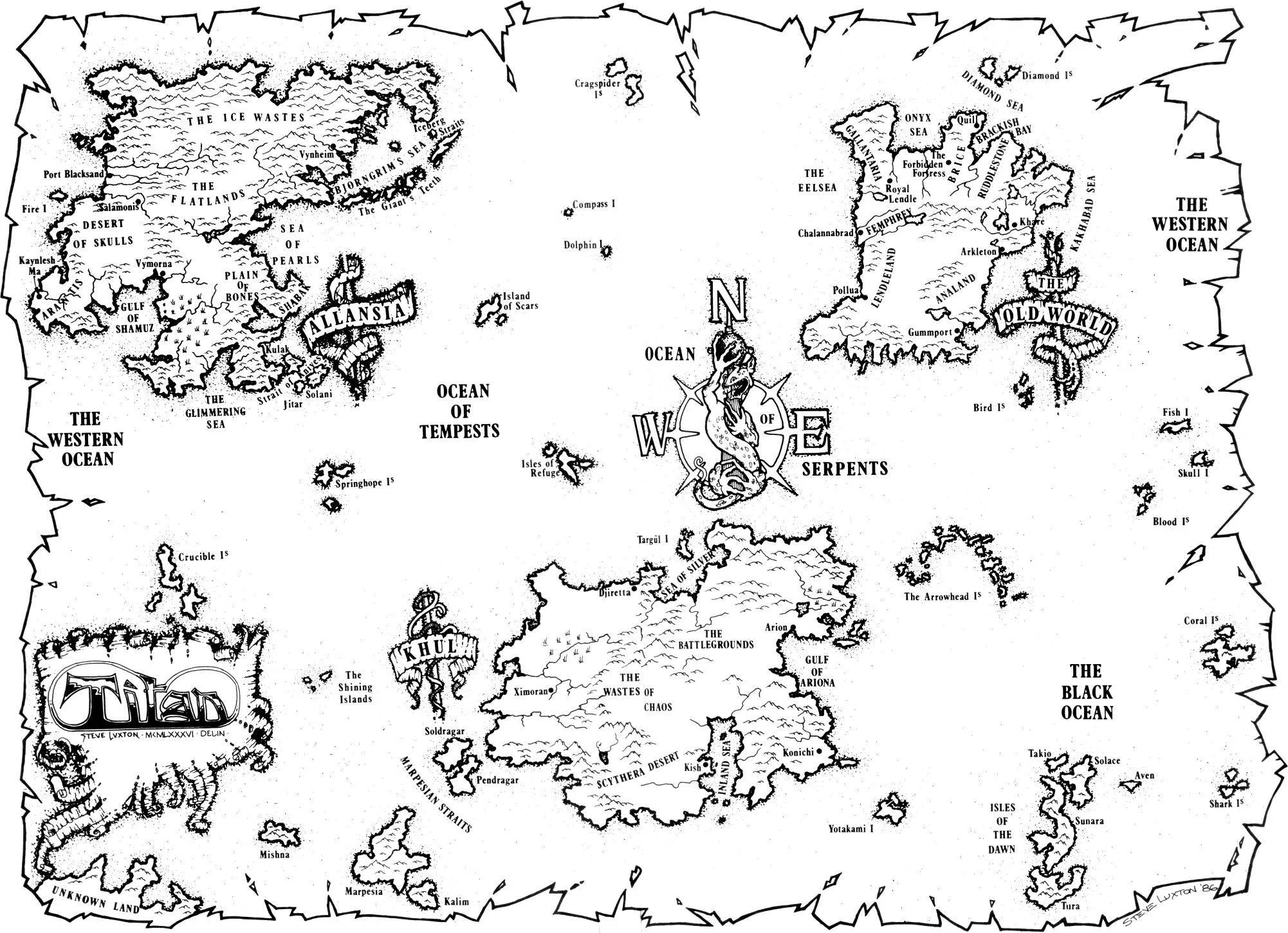 Ian Livingstone - Titan_World_Map